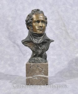Bronze Bust English Duke of Wellington Waterloo British Military