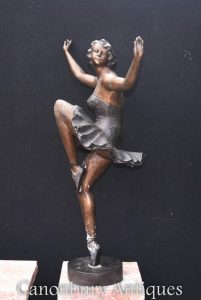 Large Art Deco Ballerina Bronze Statue by Chiparus Ballet Dancer