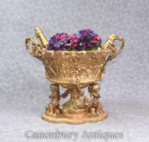 Louis XVI Ormolu Tureen Centrepiece Cherub Planter French Interiors